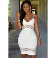 7321 Women Sexy Spaghetti Strap Mini Dress Backless Clubwear Dresses Hollow Out