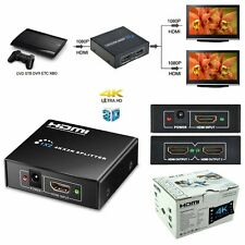 4k HDMI Splitter Amplifier HDCP 3D HD 1080P 2 Out Hub for HDTV PS3 PS4 DVD Xbox