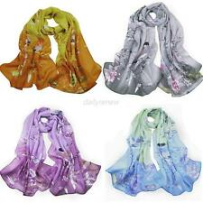 Women Fashion Pretty Long Soft Chiffon Neck Scarf Wrap Shawl Stole Scarves Hot