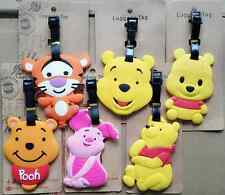6 Stlyes New Disney Winnie the Pooh Piglet Tigger Cartoon Travel Luggage Tags