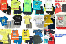 * NEW Baby BOYS 2PC PUMA Performance SHIRT SHORT SUMMER OUTFIT SET 12M 18M 24M