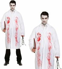 MENS MAD BLOODY DOCTOR ADULT SCARY BLOOD HALLOWEEN LAB SURGEON COSTUME COAT