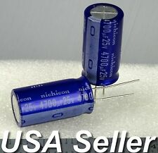 4700uF 25V Nichicon VX Series Electrolytic Capacitors 85C 2 / 5pcs -USA Shipping