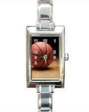 Basketball Rectangle Italian Charm Watch (Battery Included)