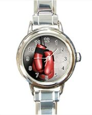 Boxing Round Italian Charm Watch (Battery Included)