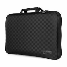 """7"""" - 17"""" Memory Foam Laptop PC Carrying Case Sleeve Pouch Protect Bag Checkered"""