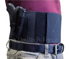 "Hi-Point 9mm/380 Belly Band Gun Holster 4"" Wide Concealed Carry USA Made - Black"