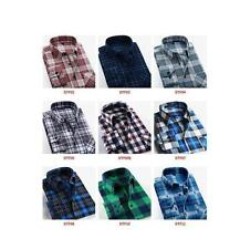 NEW Mens Classic Long Sleeve Flannel Plaids Checks Cotton Casual Dress Shirt Top