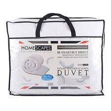 Homescapes Luxury White Goose Feather & Down Duvet 13.5 Tog Double Size 100% ...