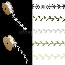 1M Snowflake/Leaf Vine Garlands Ribbon Trim Sewing Crafts Wedding Party Decor