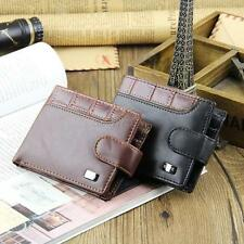 Men's Bifold Wallet PU Leather Credit/ID Card Coin Holder Slim Buckle Purse Bags