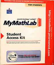 MYMATHLAB STUDENT ACCESS KIT MY MATH LAB ONLINE CODE  Please Read Carefully