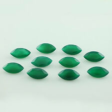 6x3mm - 8x16mm Natural Green Onyx Marquise Cut Top Quality Onyx Loose Gemstone