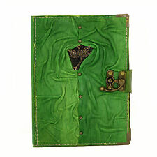 Chinese Fly Green Large Handmade Leather Journal Diary Sketch Notebook Paper