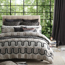 Ultima Logan and Mason Omega Stone Duvet Doona Quilt Cover Set Queen King Size