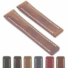 DASSARI Venture Distressed Italian Leather Watch Band Strap for BREITLING