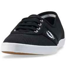 Fred Perry Aubrey Womens Trainers Black White New Shoes