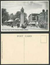 London Old Postcard CLAPHAM COMMON Clock Tower and Pavement Motorbike Motorcycle