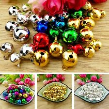 300 Pcs Colorful Iron Loose Beads Christmas Jingle Bells Pendants Xmas Decor 6mm