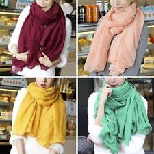 Fashion Women Lady Girls Long Cotton Linen Large Scarf Wrap Shawl Stole Scarves