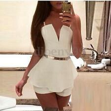 Sexy Womens Backless Straps Chiffon Jumpsuit Playsuit Short Romper Beach Dress
