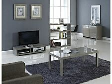 Puro Stone or Cream Hi Gloss Living Room Furniture - Tables Bookcase TV Stand