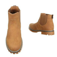 Mens Camel Boots Ankle Chelsea Boots, Faux Tan Nubuck New Work casual shoe size