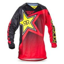 Fly Racing Kinetic Rockstar Red Jersey Shirt Motocross MX Off Road Dirt Moto