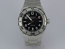 NEW SWISS Hamilton Khaki Navy SUB auto date 300m SS bracelet diver watch in box