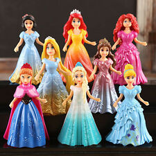 Cute 8pcs Princess Action Figures Changed Dress Doll Kids Boy Girl Toy Xmas Gift