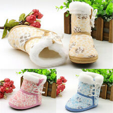 1 Pair Children Sole Shoes Toddler Infant Baby Snow Boots Soft Casual Fashion