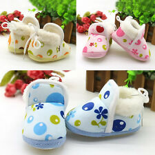 1Pair Soft Sole Ankle Warm Shoes Boy Winter Boots Pop Infant Toddler Baby Girls