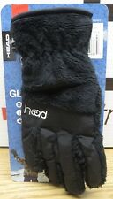 NWT HEAD Jr ThermalFUR Fleece Gloves,Size M Child Kids (Ages 7-10),Black Furry
