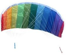 In the Breeze Rainbow 62 Inch Sport Kite - Dual Line Stunt Parafoil - Includes B