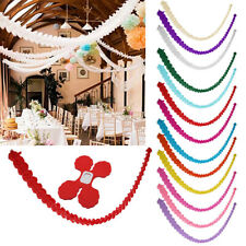3m Paper Garland Bunting Banner Birthday Home Wedding Party Hanging Decoration