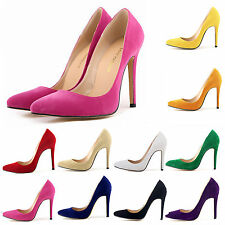 Women's Shoes Sexy Suede High Heels Pointed Stiletto  Work Shoes Pumps Court New