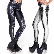 Hot Women Sexy Skull Bone Leggings Digital Print Stretchy skeleton Tight Pants