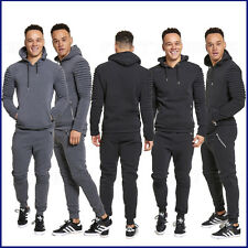 Mens Tracksuit Hoodie Hoody Hooded Jacket Joggers Trousers Ribbed Super Soft  ❤