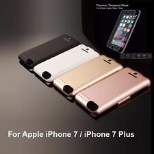 External Backup Battery Case Charger+Tempered Glass for Apple iPhone 6/7/7 Plus