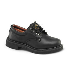 "Mens Black 4"" Slip-Resistant Leather WP Work Shoes BONANZA 415 Size 5-13 (D, M)"