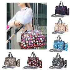 Waterproof Baby Changing Bags Diaper Nappy Mummy Shoulder Handbag Striped Tote