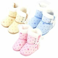6-12M Kid Baby Girl Boy Newborn Winter Warm Boots Toddler Infant Soft Sole Shoes