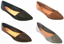 New Womans  Shoes 18  Microsuede Ballet Flats W/PU Snakeskin Toe
