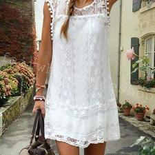 Wonderful Women Lace Dress Summer Sleeveless Beach Party Dress NEW Sexy Dress