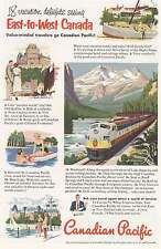 1952 Canadian Pacific: East to West Canada Print Ad (8458)