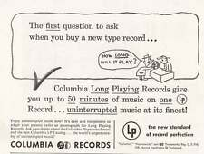 1949 Columbia Records: How Long Will It Play Print Ad (20037)