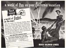 1949 Rock Island Lines: California Vacation Print Ad (8042)