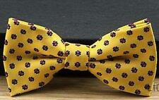 """Baby/Toddler Boy's Yellow Patterned Bow Tie and 25"""" Black Suspenders"""