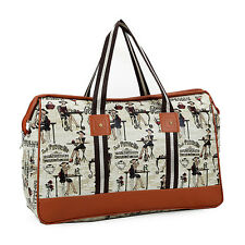 Travel Carry-On Luggage Handbag Leather Tote Purse Bag Weekend Overnight Duffle