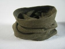 Czech Army Snood Headover Green Brown Tube Scarf Cap Comforter Military Surplus